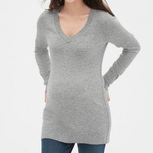 Gap Maternity gray tunic sweater